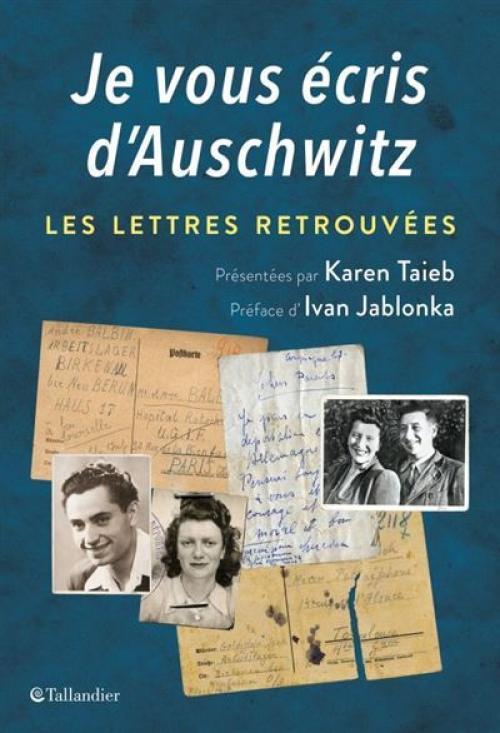 Book Je vous écris d'Auschwitz