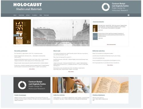 New website Holocaust journal