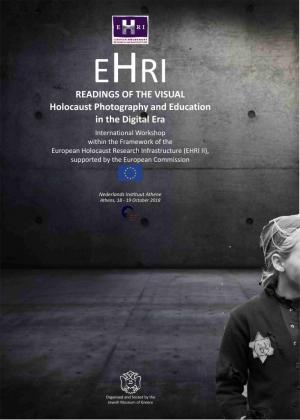EHRI Seminar Greece Readings of the Visual