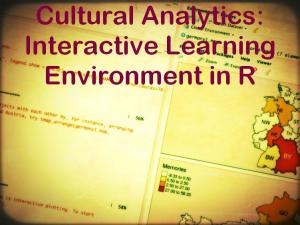 EHRI Online Course Cultural Analytics