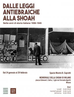 From the anti-Jewish Laws (racial laws) to the Shoah. Seven years in Italian History 1938-1945