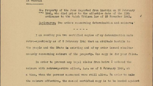 EHRI Document Blog Post The Lost Jews of Stettin